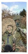 A British Army Sniper Team Dressed Bath Towel