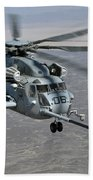 A Ch-53e Super Stallion Approaches Bath Towel