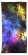 A Colorful Nebula In The Universe Bath Towel