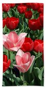 A Field Of Tulips Series 3 Bath Towel