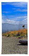 A Foggy Morning At Whiffin Spit Hand Towel