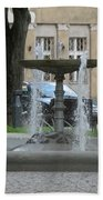 A Fountain In Silute Lithuania Bath Towel