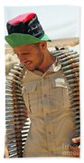 A Free Libyan Army Soldier With An Hand Towel