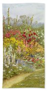 A Herbaceous Border Bath Towel