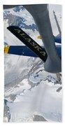 A Kc-135 Stratotanker Refuels An Fa-18 Bath Towel by Stocktrek Images
