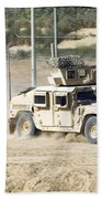 A M1114 Humvee Patrols The Perimeter Bath Towel