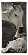 A Mother's Love Monochrome Hand Towel
