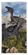 A Pack Of Velociraptors Attack A Lone Bath Towel