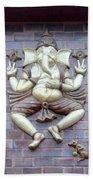 A Sculpture Of The Hindu God Ganesha Bath Towel