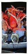 A Seafood Orgy Hand Towel