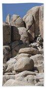A Soldier Climbs A Mountain Bath Towel