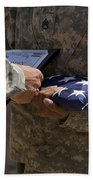 A Soldier Is Presented The American Bath Towel