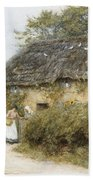 A Thatched Cottage Near Peaslake Surrey Bath Towel