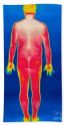 A Thermogram Of A Nude Man Back Bath Towel