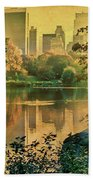 A Vintage Glimpse Of The Boating Lake Bath Towel