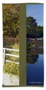 Abbotts Pond - Gently Cross Your Eyes And Focus On The Middle Image Bath Towel