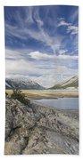 Abraham Lake Created By Bighorn Dam Bath Towel