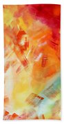 Abstract Art Colorful Bright Pastels Original Painting Spring Is Here I By Madart Hand Towel