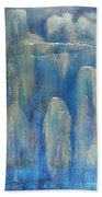 Abstract Blue Ice Bath Towel