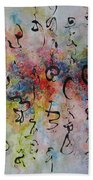 Abstract Calligraphy115 Bath Towel