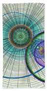 Abstract Circle Art Bath Towel