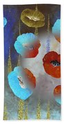 Abstract Colorful Poppies Bath Towel