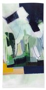 Abstract Island Night And Day Bath Towel