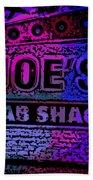 Abstract Joe's Crabshack Sign Bath Towel