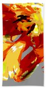 Abstract Parrot Tulip Bath Towel