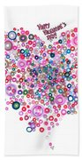 Abstract Pattern Valentine Bath Towel