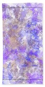Abstract Purple Splatters Bath Towel