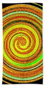 Abstract Spiral Bath Towel