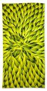 Abstract Sunflower Pattern Bath Towel