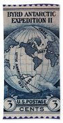 Admiral Richard Byrd Postage Stamp Bath Towel