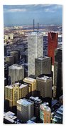 Aerial View From Cn Tower Toronto Ontario Canada Bath Towel