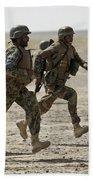 Afghan National Army Soldiers Run Bath Towel