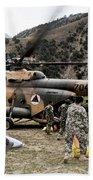 Afghan National Army Soldiers Unload Bath Towel