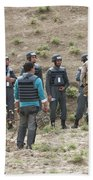 Afghan Police Students Listen To U.s Hand Towel