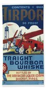 Airport Whiskey Label Bath Towel