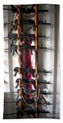 Akm Assault Rifles Lined Up On The Wall Hand Towel