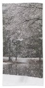 Alabama Winter Wonderland Bath Towel