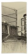 Alcatraz Recreation Yard Guard Cage And Gun Walk Bath Towel