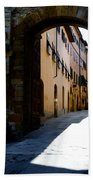 Alley With Sunlight Bath Towel