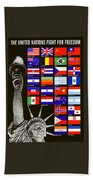 Allied Nations Fight For Freedom Bath Towel