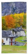 Alpine Village In Autumn Bath Towel