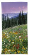 Alpine Wildflower Meadow, Mount Bath Towel