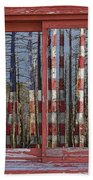 America Still Beautiful Red Picture Window Frame Photo Art View Bath Towel