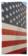 American Flag At Nathan's Bath Towel