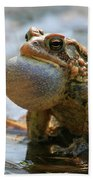 American Toad Croaking Bath Towel