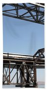 Amtrak Train Riding Atop The Benicia-martinez Train Bridge In California - 5d18835 Bath Towel